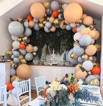 no helium balloons decoration