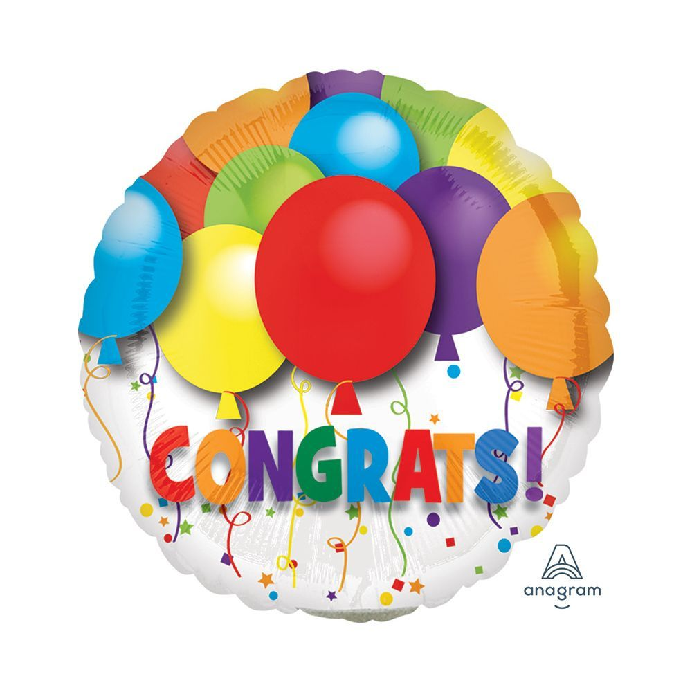 Congratulations Air Fill Balloons