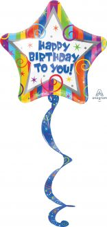 Coil Tail AirWalkers Happy Birthday Streamers
