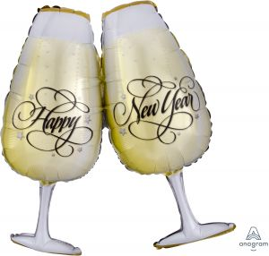 SuperShape New Years Toasting Glasses
