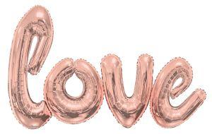 Script Phrase Love Rose Gold Jumbo (Helium Quality)