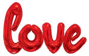 Script Phrase Love Red Jumbo (Helium Quality)