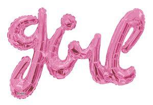 Script Phrase Girl Pink Jumbo