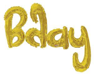 Script Phrase Bday Gold Jumbo (Helium Quality)