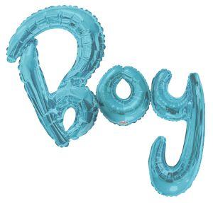 Script Phrase Boy Blue Jumbo (Helium Quality)