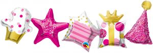 Garland Birthday Pink (2pcs)