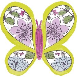 SuperShape Green Floral Butterfly