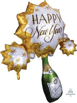 SuperShape Bubbly New Year