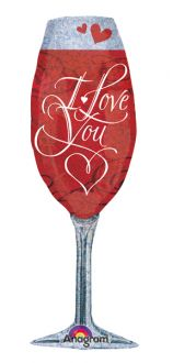SuperShape Love You Champagne Glass