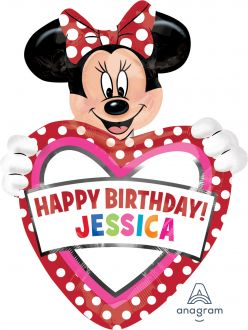 SuperShape Personalized Minnie Mouse Birthday