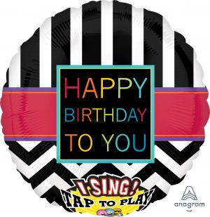 Sing-A-Tune Chevron Happy Birthday To You