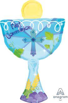 SuperShape 1st Communion Blue Chalice