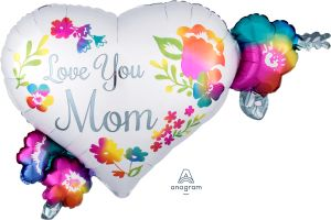 SuperShape Love You Mom Watercolor