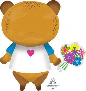 SuperShape Love You Mom Bear with Flowers