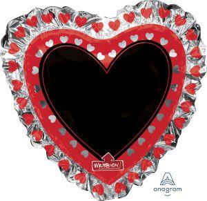 SuperShape Write-On Heart Blackboard