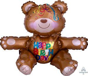 CI: Sitting Happy Birthday Bear