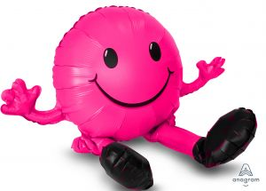 CI: Sitting Happy Face Pink