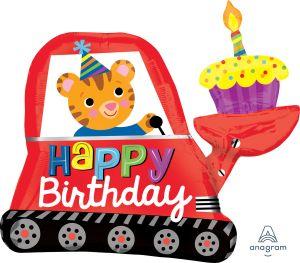 SuperShape Happy Birthday Digger Cupcake Flat
