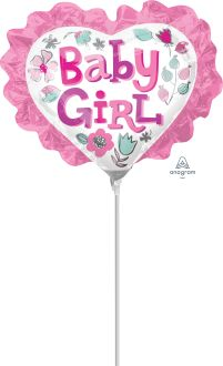 Mini Shape Baby Girl Heart Floral with Ruffle