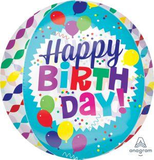 Orbz Happy Birthday Streamer Burst