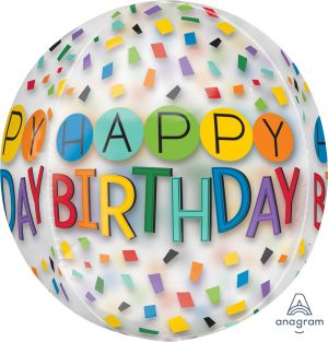 Orbz Happy Birthday Rainbow