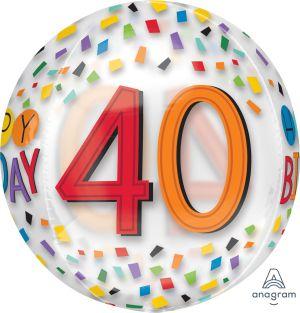 Orbz Happy 40th Birthday Rainbow