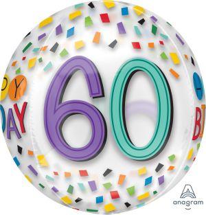 Orbz Happy 60th Birthday Rainbow