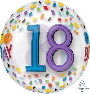 Orbz Happy 18th Birthday Rainbow
