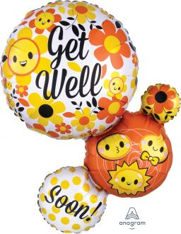 SuperShape Get Well Bubble Emoticons