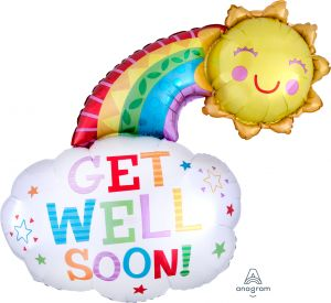 SuperShape Get Well Happy Rainbow