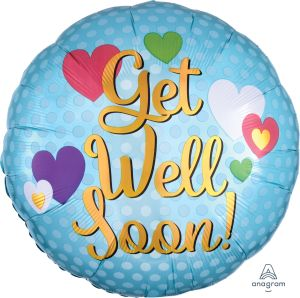 Jumbo Get Well Soon Hearts