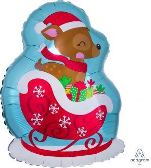 Junior Shape Deer in Sleigh