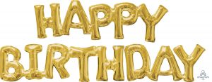 Phrase HAPPY BIRTHDAY Gold