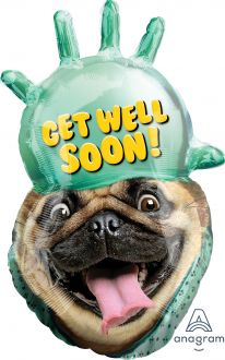 SuperShape Avanti Get Well Pug