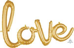Script Phrase Love Gold