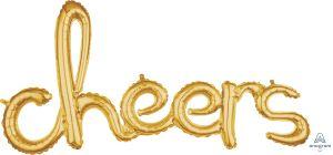 Script Phrase Cheers Gold