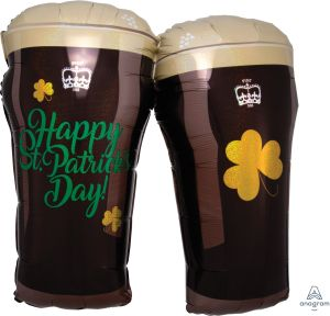SuperShape Iridescent St. Pattys Beer Glasses