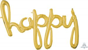 Script Phrase Happy Gold