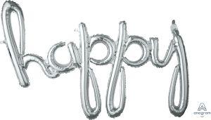 Script Phrase Happy Silver