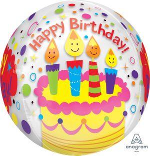 Orbz Happy Birthday Candles & Confetti