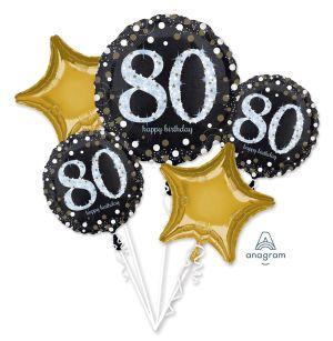 Bouquet Sparkling Birthday 80