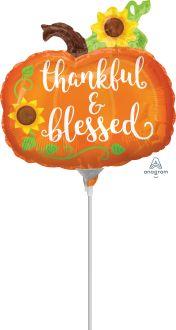 Mini Shape Thankful & Blessed Pumpkin