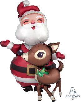 AirWalkers Santa & Reindeer