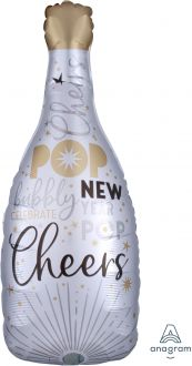 SuperShape Satin Infused Celebrate the New Year Bubbly