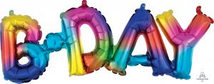 Phrase Bday Rainbow Splash