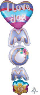 Multi-Balloon I Love You MOM