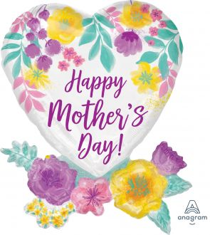 SuperShape Happy Mothers Day Watercolor Flowers
