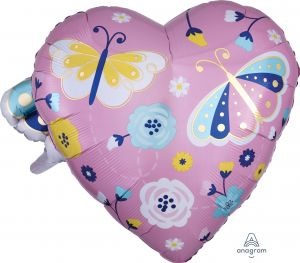 Multi-Balloon Happy Mothers Day Butterfly & Heart
