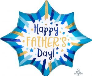 SuperShape Happy Fathers Day Painted Stripes