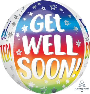Orbz Get Well Soon Silver Rainbow